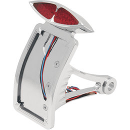 Drag Specialties Art Deco Curved Taillight/Plate Mount For Harley 2030-0171