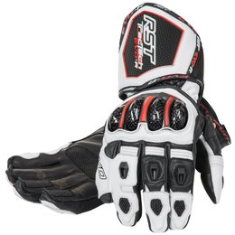 RST Mens Tractech EVO Race Leather Gloves White