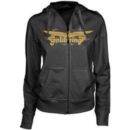 Charcoal Honda Womens Goldwing Posh Zip Hoody