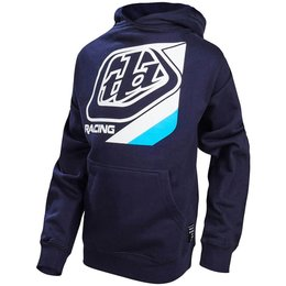 Troy Lee Designs Youth Boys Precision Cotton Blend Pullover Hoodie Blue