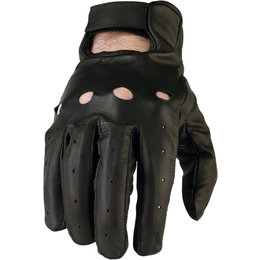 Z1R Mens 243 Lightweight Leather Motorcycle Riding Gloves Black