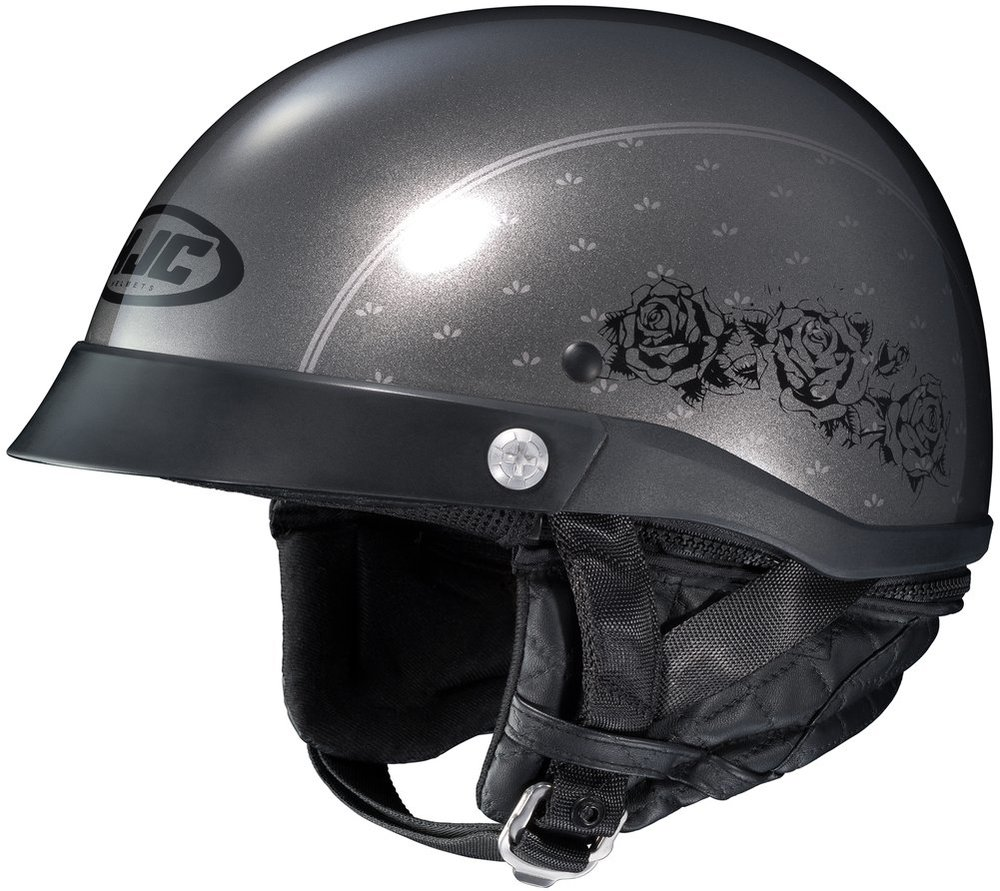 Discount Motorcycle Gear >> $94.99 HJC Womens CL-Ironroad Black Rose Motorcycle Half #206115