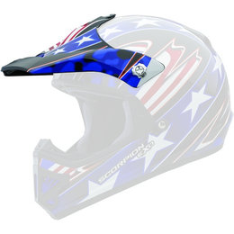 Scorpion Youth VX-9 Patriot Replacement Visor Peak MX/Offroad Helmet Accessory Blue