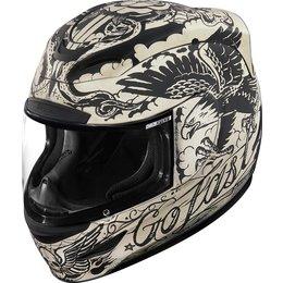 Icon Airmada Scrawl Full Face Helmet Off-white