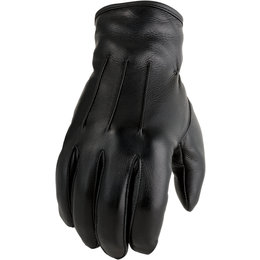 Z1R Mens 938 Leather Motorcycle Riding Gloves Black