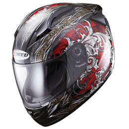 Red Xpeed Xf708 Secret Full Face Helmet