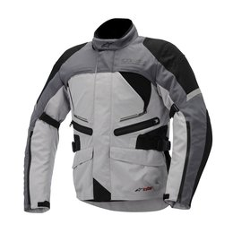 Grey, Black Alpinestars Mens Valparaiso Drystar Textile Jacket 2014 Grey Black