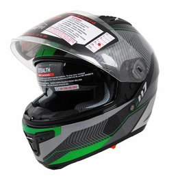 Green Vega Stealth Mens F-117 Neon Graphic Full Face Helmet 2013