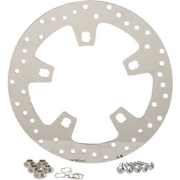 Drag Specialties Drilled Polished Front Brake Rotor For Harley 1710-2403