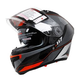 Orange Vega Stealth Mens F-117 Neon Graphic Full Face Helmet 2013
