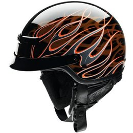 Black, Orange Z1r Nomad Hellfire Half Helmet Black Orange