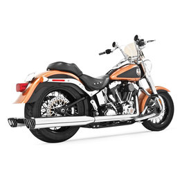 Freedom Performance Exhaust Racing Dual W/Tips Chrome/Black H-D FLST FXST 07-13