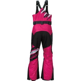 Arctiva Womens Eclipse Insulated Removable Bib Snowmobile Pants Pink