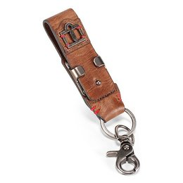 Brown Icon Mens 1000 Collection Navigator Leather Keychain 2014