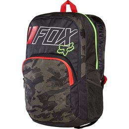 Fox Racing Let's Ride Ozwego School Travel Motorsports Track Laptop Backpack Brown