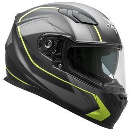 Vega RS1 RS-1 Slinger Graphic Full Face Motorcycle Helmet With Flip-Up Shield Black