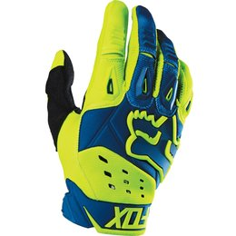 Fox Racing Mens Pawtector Race Gloves Blue
