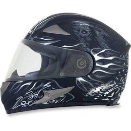 Flat Black Afx Mens Fx-90 Fx90 Reaper Full Face Helmet