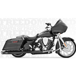Freedom Performance Exhaust Racing Dual Black For Harley FLH FLT 2009-2013