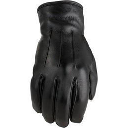 Z1R Womens 938 Leather Motorcycle Riding Gloves Black