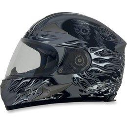 Frost Grey Afx Mens Fx-90 Fx90 Reaper Full Face Helmet