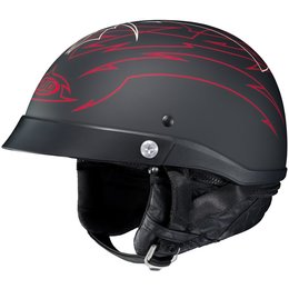 HJC CL-Ironroad Showboat Motorcycle Half Helmet With Visor Black