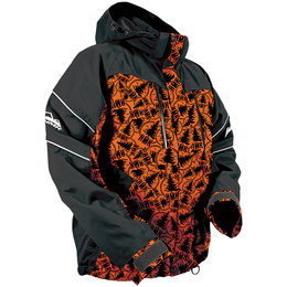 HMK Mens Action 2 Waterproof Snowmobile Jacket Orange
