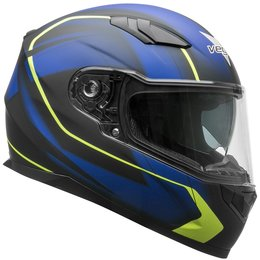 Vega RS1 RS-1 Slinger Graphic Full Face Motorcycle Helmet With Flip-Up Shield Blue