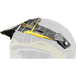 Rockstar Answer Replacement Visor For Youth Nova Helmet Black Yellow