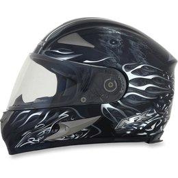 Black Afx Mens Fx-90 Fx90 Reaper Full Face Helmet
