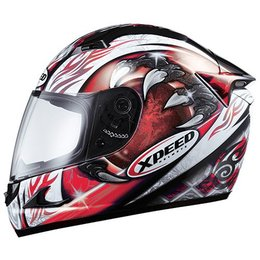 Red Xpeed Xf708 Eclipse Full Face Helmet