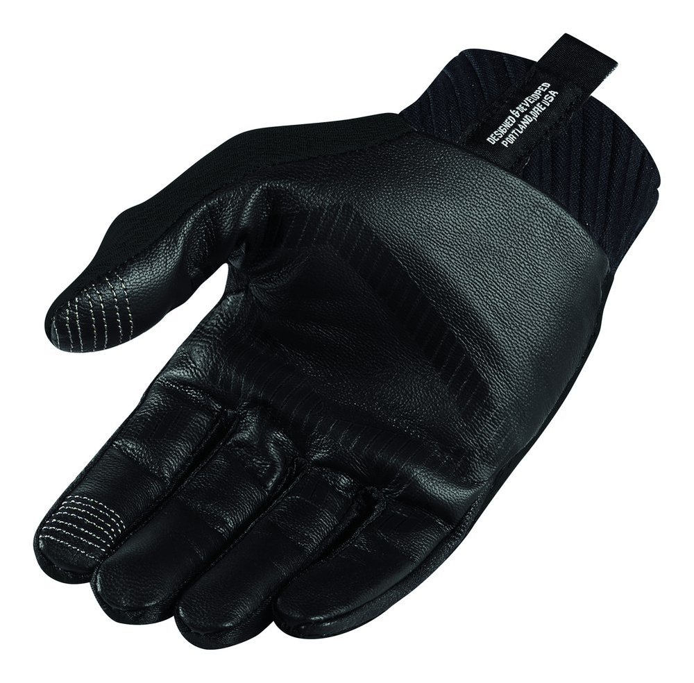Motorcycle gloves d30 -  Icon Mens Anthem Stealth Armored Touchscreen Textile Motorcycle Gloves 2015 Black