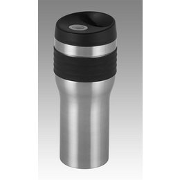Kruzer Kaddy Travel Cup 20 Oz Leak Proof Push Button Dispense Chrome Universal