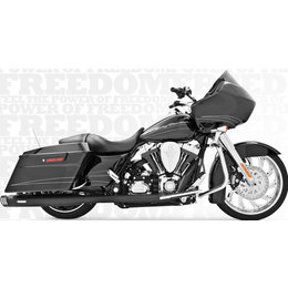 Freedom Performance Exhaust Racing Dual Black For Harley FLH FLT 1986-2008