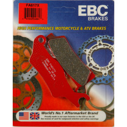 EBC X-Series Carbon Front Right ATV Brake Pads Single Set For Can-AM FA602X Unpainted