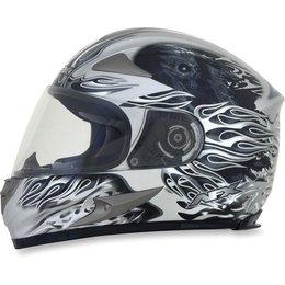 Silver Afx Mens Fx-90 Fx90 Reaper Full Face Helmet
