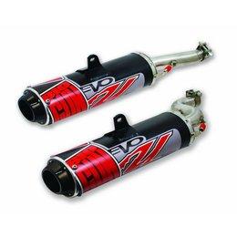 Black Big Gun Evo Utility Dual Exhaust Cs For Yamaha Rhino 700 08-09