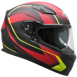 Vega RS1 RS-1 Slinger Graphic Full Face Motorcycle Helmet With Flip-Up Shield Red