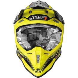 Just1 J12 J-12 Rockstar 2.0 MX Helmet Yellow