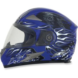 Blue Afx Mens Fx-90 Fx90 Reaper Full Face Helmet