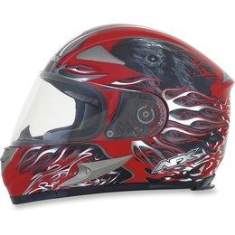 Red Afx Mens Fx-90 Fx90 Reaper Full Face Helmet