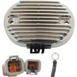 Drag Specialties Premium Voltage Regulator For Harley-Davidson Chrome 2112-1027 Metallic