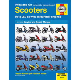 Haynes Service And Repair Manual For 50cc To 250cc Automatic Scooters M4082 Unpainted