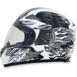 Pearl White Afx Mens Fx-90 Fx90 Reaper Full Face Helmet