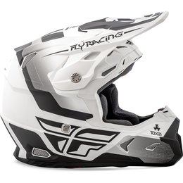 Fly Racing Toxin Graphic MX Helmet White