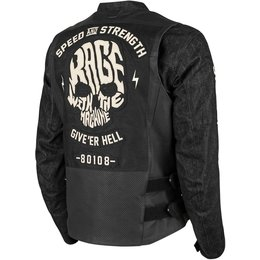 Speed & Strength Mens Rage With The Machine Armored Leather/Denim Riding Jacket Black