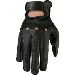 Z1R Womens 243 Lightweight Leather Motorcycle Riding Gloves Black