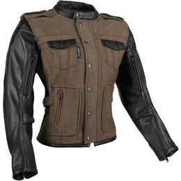 Speed & Strength Womens Six Speed Sisters Armored Textile/Leather Riding Brown