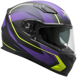 Vega RS1 RS-1 Slinger Graphic Full Face Motorcycle Helmet With Flip-Up Shield Purple