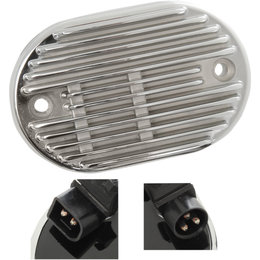 Drag Specialties Premium Voltage Regulator For Harley-Davidson Chrome 2112-1029 Metallic